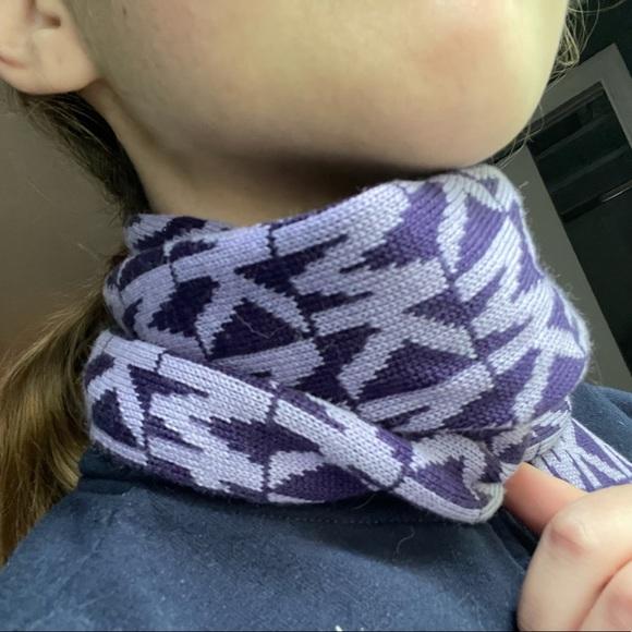 Michael Kors purple on purple scarf